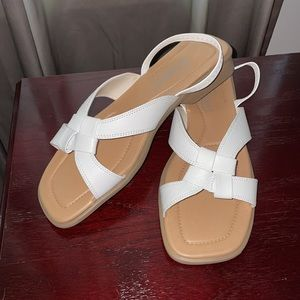 Tradition Leather Sandals White, Style: Ann SZ 9M